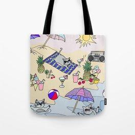 summer cats Tote Bag