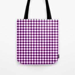 Small Diamonds - White and Purple Violet Tote Bag
