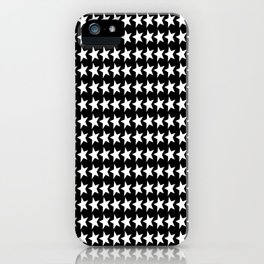 Black White Stars Pattern iPhone Case