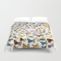 butterflies Duvet Covers featuring Butterflies by Ben Giles