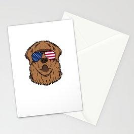 Patriotic America Newfoundland Dog Gift Stationery Cards