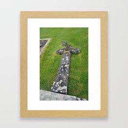 Fallen Cross Framed Art Print