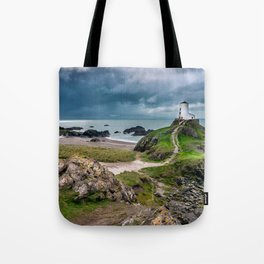 Twr Mawr Lighthouse,North Wales, United Kingdom, Seascape, Nature, Beach Tote Bag