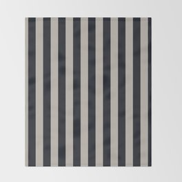 Vertical Stripes Black & Warm Gray Throw Blanket