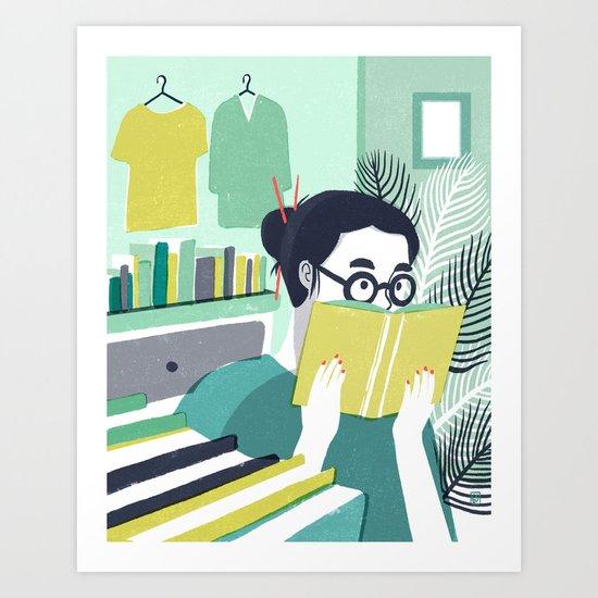 Voracious Reader Art Print
