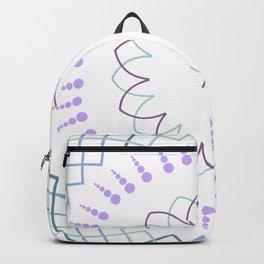 Minimalist floral mandala Backpack