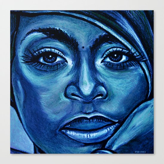 erykah?!../alternative-blue/ Canvas Print