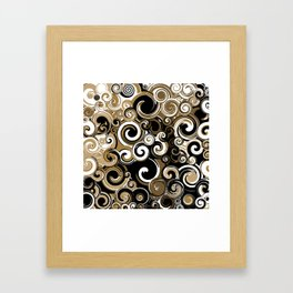 Coffee Swirls Framed Art Print