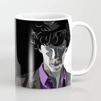 sherlock holmes Mugs featuring Sherlock Holmes Portrait by Schwebewesen • Romina Lutz