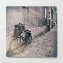 street photo BICYCLES #street #streetphoto Metal Print