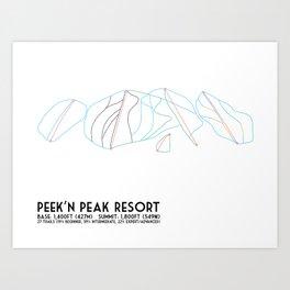 Peek'n Peak, NY - Minimalist Trail Map Art Print