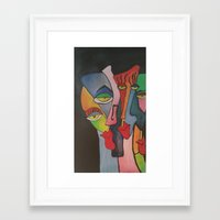 faces Framed Art Prints featuring faces by loomy