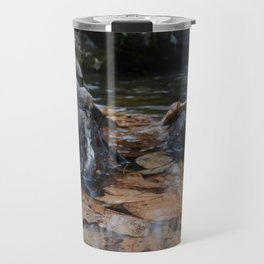 Leaves Underwater at Cascade Falls Travel Mug