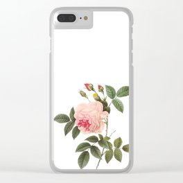 Vintage Pink Rose [04] Clear iPhone Case