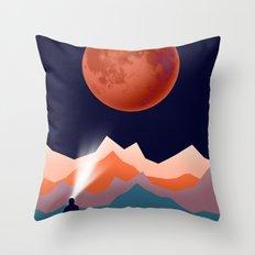 Blood Moon Throw Pillow