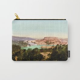Forest mountains Lake Vintage Scenery Carry-All Pouch