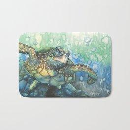 Sea Turtle Glides Bath Mat