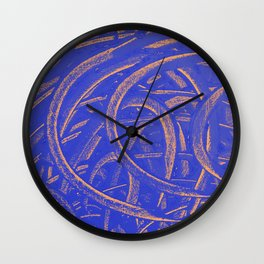 Junction - Blue and Orange Wall Clock
