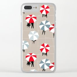 On a rainy day pattern Clear iPhone Case