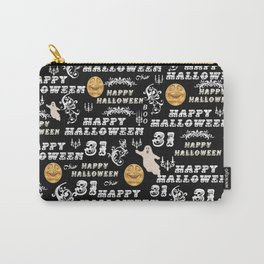 Black White Yellow Halloween Collage Carry-All Pouch