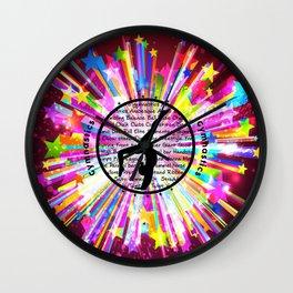 rainbow star gymnast Wall Clock