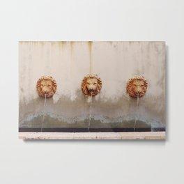 Three Lion Fountain Metal Print