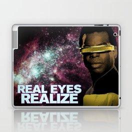 Geordi: Real Eyes Realize Laptop & iPad Skin