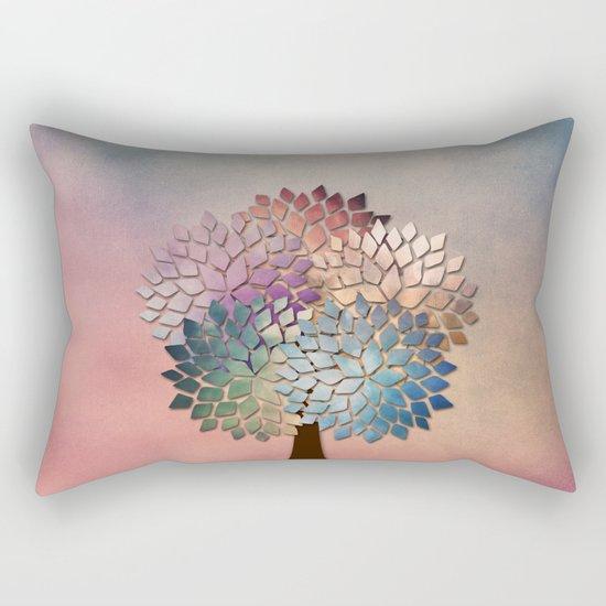 Abstract Petal Tree Rectangular Pillow