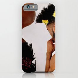 The White Wall Series: Kyshan and Damon iPhone Case