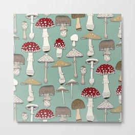 mushrooms jade Metal Print