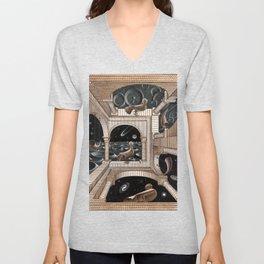 Escher - Another World II Unisex V-Neck