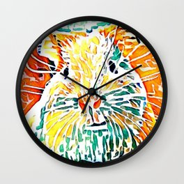 Hot painted Guinea Pig Wall Clock