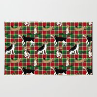 hunting Area & Throw Rugs featuring Hunting Tartan by Vannina