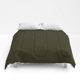 Home Sweet Home ~ Dark Olive Green Comforters