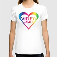 video games T-shirts featuring love video games by seb mcnulty