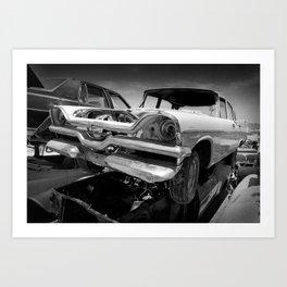 1957 Dodge Coronet wreck Art Print