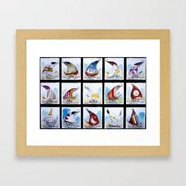 """""""Sails & Wind"""" Framed Art Print"""
