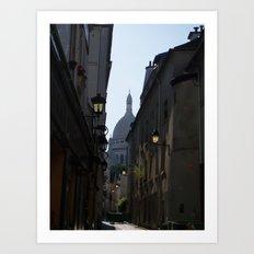 Montmartre street Art Print
