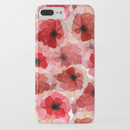 Pressed Poppy Blossom Pattern iPhone Case