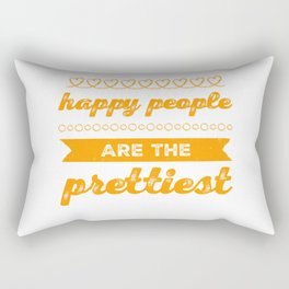 Happy People Are Attractive Rectangular Pillow