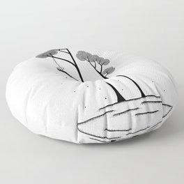The moon trees Floor Pillow