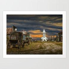 Western 1880 Town Art Print