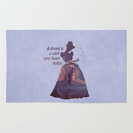 """""""A Dream Is A Wish Your Heart Makes"""" Cinderella Inspired Rug"""