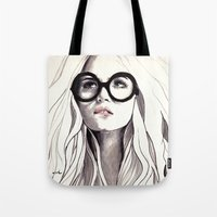 Tote Bags featuring Can't Remember His Name by anna hammer