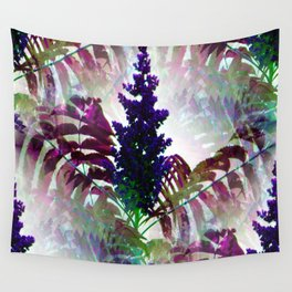 Colorful Seamless Fractal Leaves Wall Tapestry