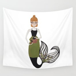 Tea Mermaid by Ashley Nada Wall Tapestry