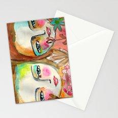 2 girls Stationery Cards