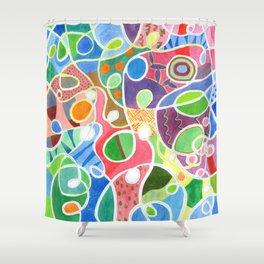 Jubilant Loops Pattern Shower Curtain