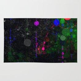 Digital Artist Textured Paint Splash Abstract Rug