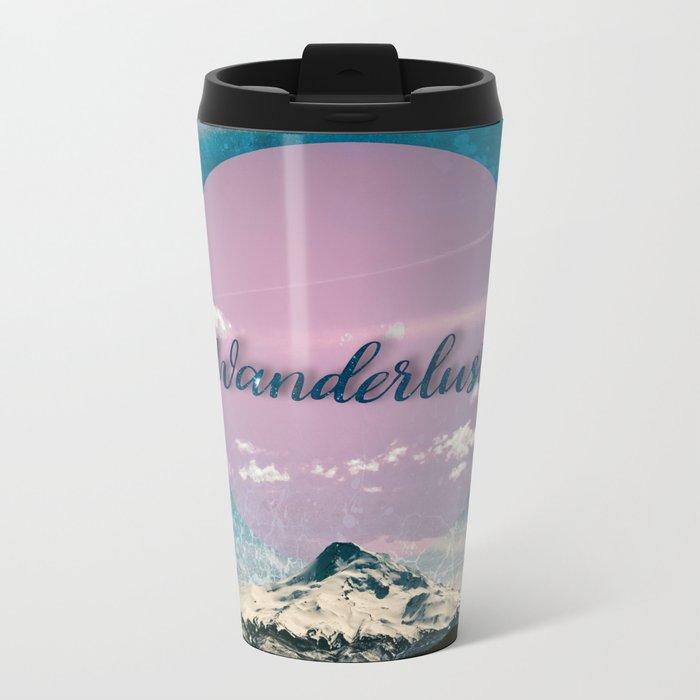 Wanderlust Mountain Metal Travel Mug